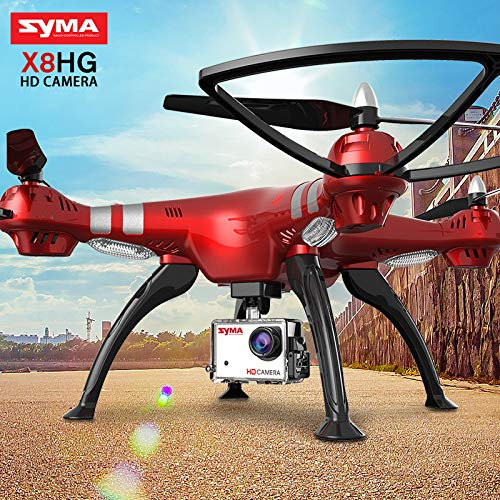 Zantec Regalo Ideale Quadcopter SYMA X8HG 2.4G 4CH 6-Axis Gyroscope RC Drone con Videocamera HD 8MP