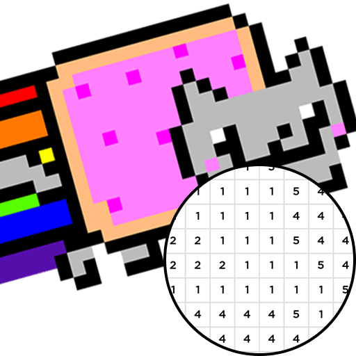 Nyan Cat Pixel Art Animal Color By Number Amazon Co Uk Appstore For Android