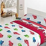 Juego de sábanas coralina infantil modelo Heroe Rojo (90)