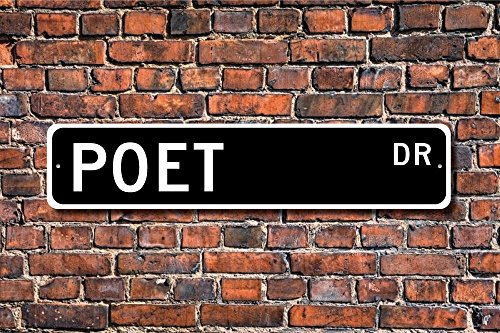 Dozili Poet Gift Poet Sign Writer Poetry Writer Poetry Poetry Lover Poets Prose Custom Street Sign...