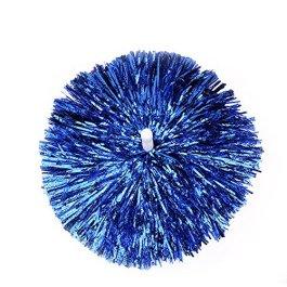(100g) 2CONFEZIONI Cheerleading Pom Poms con manico di Baton Sports Dance Cheer plastica POM POM PER SPORT Spirito di squadra acclamation (blu)