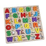 Newin Star Puzzle Clásicos de madera 1pc–Alfabeto Mayúsculas