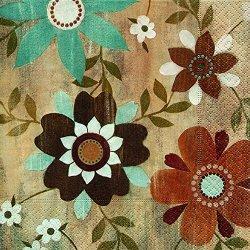 floristikvergleich.de 20 Servietten Flower Carpet ? Blumenmotiv Vintage / Blumen 33x33cm
