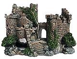 SLOME Adornos de Acuario de Resina Castillo Decoraciones - Suministros de Acuario Accesorios, ecológicos Castillo de pecera Acuario Ornamento