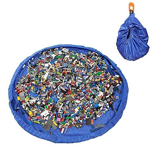 ivencase Play-Tappeto gioco per bambini, contenitori per giocattoli, Scatola per giocattoli,...