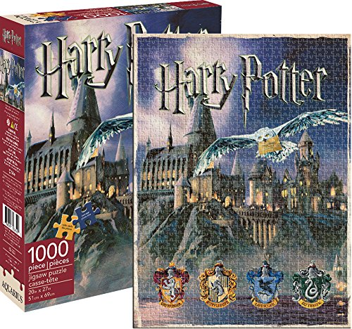 Jigsaw guidata Castello di Harry Potter Hogwarts 1.000 pezzi del puzzle Casa Logo