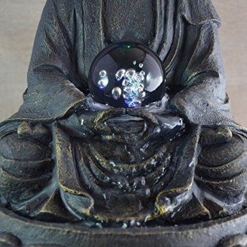 Zen Luz SCFR 8G Buddha Fuente Meditación Gran Interior Marrón Oscuro/Chocolate 21 x 21 x 30 cm 6