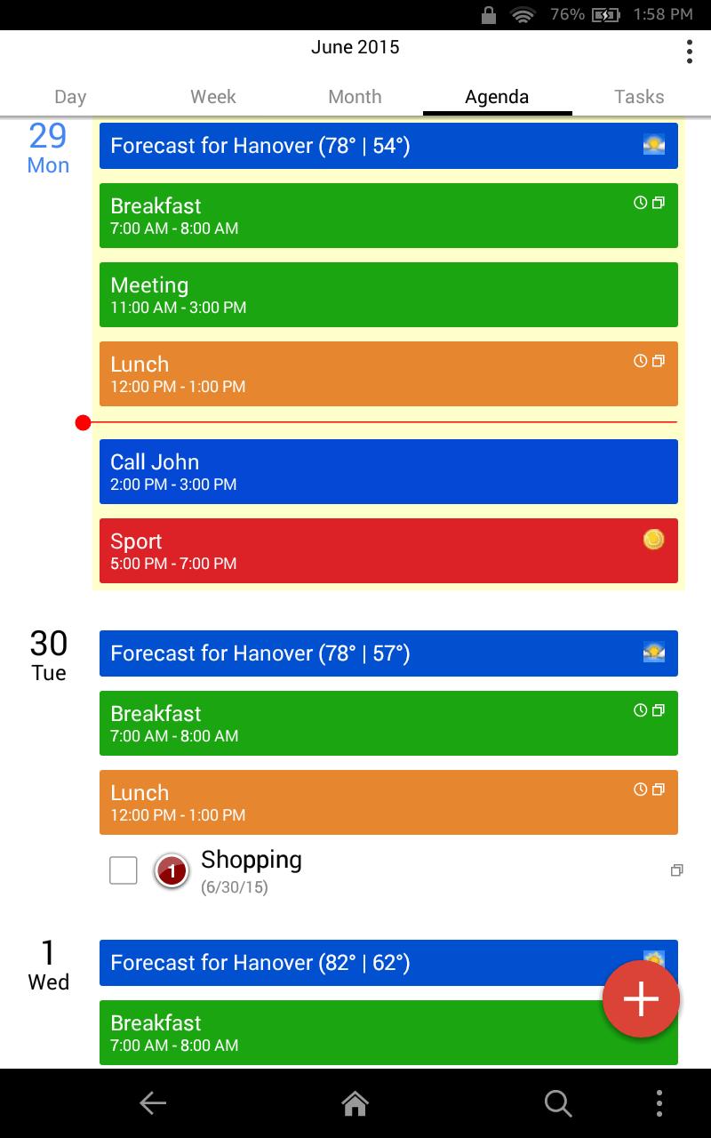 CalenGoo Screenshot