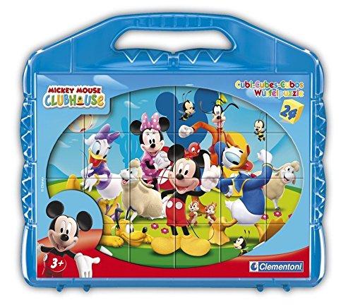 Clementoni - 42495 - Puzzle Cubi - Mickey Mounse Club House - 24 Cubi - Disney