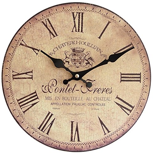 Perla PD Design Orologio da parete orologio da cucina Design Vintage Pontet Freres, diametro 28cm