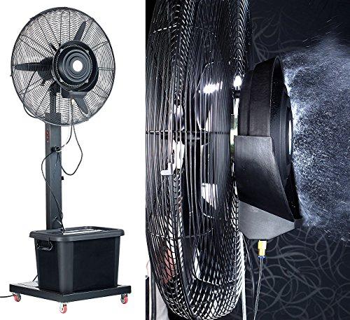 Sichler Haushaltsgeräte Ventilator Outdoor: Professioneller Standventilator VT-761.S, mit Sprühnebelfunktion (Ventilator mit Sprühnebelfunktion)