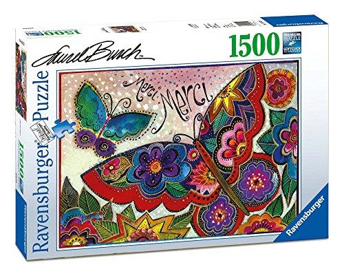 Ravensburger - Puzzle, diseño Laurel Burch, Mariposas, 1500 piezas (163328)