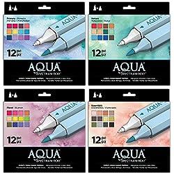 Spectrum Noir Aqua marcador,, Varios, juego de 4