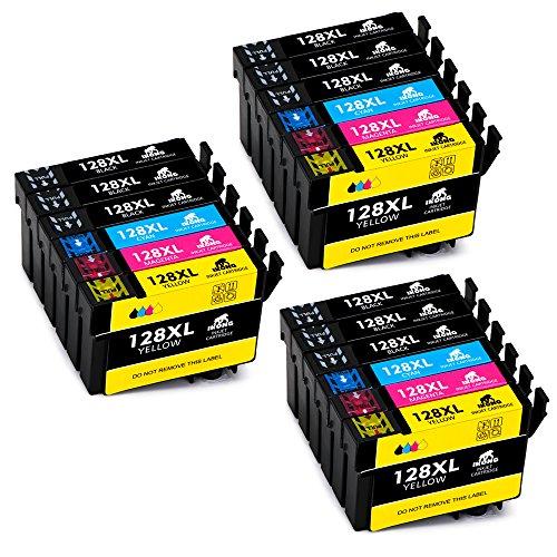IKONG Sostituzione per Epson T1281 T1282 T1283 T1284 T1285 Cartucce Compatibile con Epson Stylus...