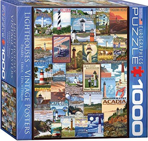Eurographics 8000–1.978,7cm fari pubblicità vintage puzzle da pezzi