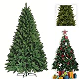Premium Green Artificial Christmas Xmas Tree Pine Metal Stand Tips Spruce (6FT (180cm/1.8m) - 700 Tips)
