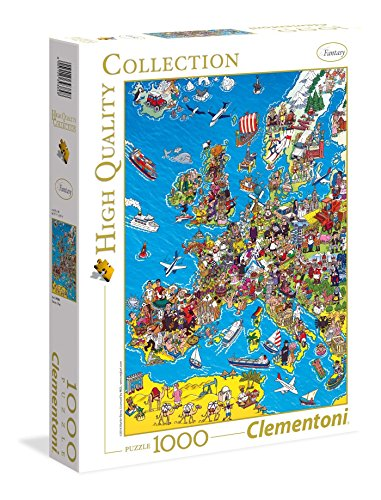 Clementoni - 39384 - High Quality Collection Puzzle - Europe Map - 1000 Pezzi