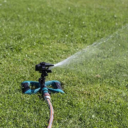 The Oasis Ahead Lawn Sprinkler K-200 will cater to all your watering needs without missing a bit. This pulsating sprinkler can be adjusted to suit the angle of water direction required from 0-360 degrees. Conveniently, there is a shut-off valve installed when you feel like the lawn has been watered adequately. This shut-off valve saves you the time and energy you would have used scrambling for the tap.