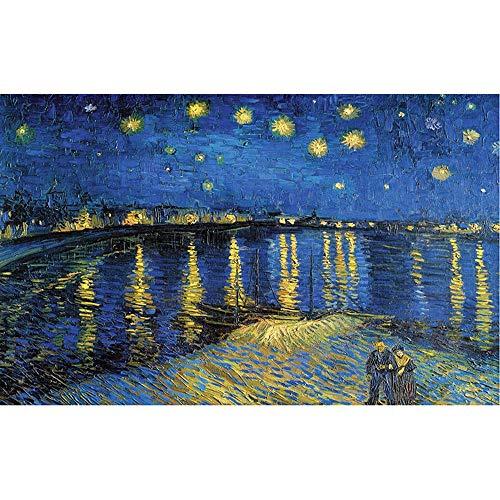 Legno Puzzle, Pittura del Van Gogh - Notte Stellata sul Rodano, Giocattoli educativi for Adulti...