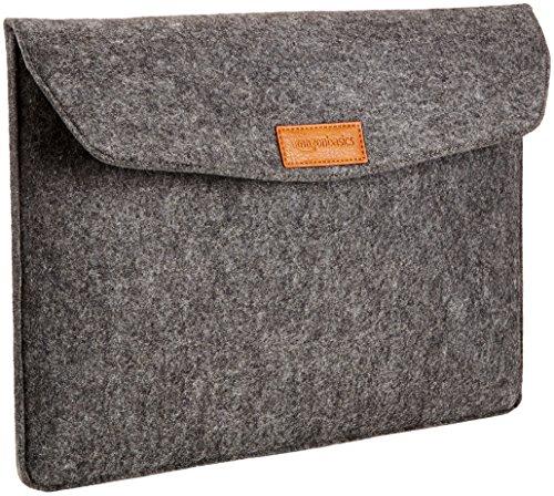 AmazonBasics 15.4-inch Felt Laptop Sleeve (Charcoal)