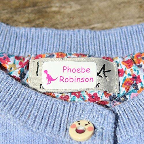 120 x Etichette autoadesive per vestiti, peluche e oggetti personali   Adesivi personalizzati  ...