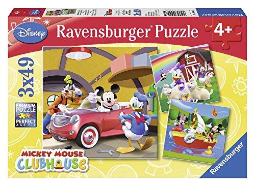 Ravensburger 92475 Tutti amano Topolino Puzzle 3x49 pezzi
