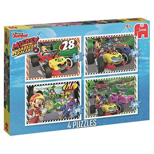 Disney Topolino e Il Roadster Racers: 4Puzzle Box (12/20/30/pezzi)