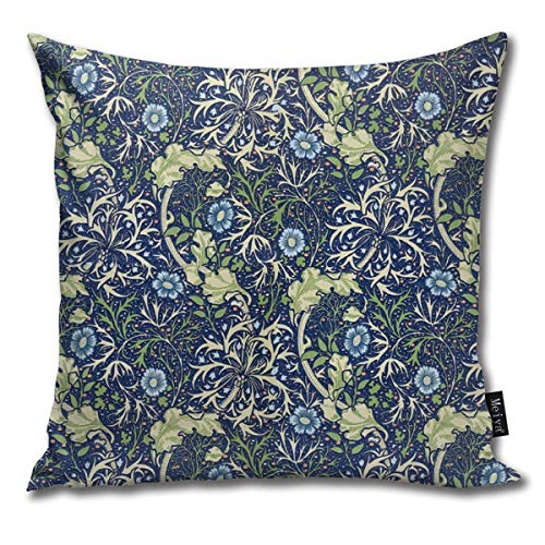 William Morris Blue Daisies Super Soft Fodere per Cuscini per Divano Divano Letto Federa Cuscino...