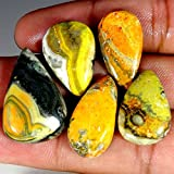 76.15 CTS 100% naturale all ingrosso lotto Bumble Bee Eclipse Jasper 5 pz Cab gemma sciolto