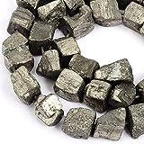 Rubyca pirite pietra preziosa naturale nugget sciolto perline AAA grade 1filo per gioielli fai da te 47PCS Nugget 10mm