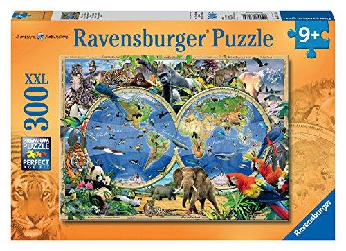 Ravensburger 13173 - Animali del Mondo, Puzzle 300 pezzi XXL