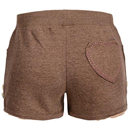 kurze Lederhose in Jogginghosenstyle in Braun von Krüger , Größe:M, Farbe:Braun -