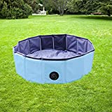 YAOBLUESEA Hundepool Doggy Pool Faltbarer Hunde Planschbecken Badewanne Pool in PVC Rot/Grün Φ 160 x 30 cm (Blau)
