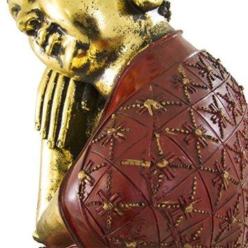Figura buda de resina en color rojo y dorado | 60 cm de alto | Portes gratis 7