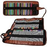 Matite colorate Organizzatore, Senhai 48 Slot + 72 Slot della tela di canapa sacchetto della matita / Wrap Arrotolabile Custodia per scuola, ufficio, viaggio