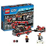 LEGO City Transporte Moto de Carreras, Multicolor, 26.2 x 19.3 x 5.8 (60084)