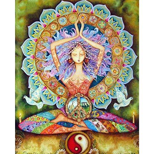 TWYYDP Puzzle in Legno per Adulti 1000 Pezzi Ragazza Yoga, Mandala, Yin E Yang Il Miglior Regalo per...