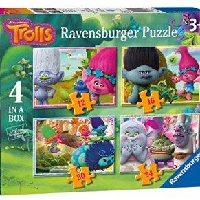 Ravensburger - Puzzle 4 in 1, Trolls (06972) , color, modelo surtido