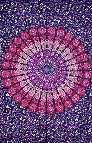 Pink & Purple Mandala Tapestry , Hippie Tapestries , Bohemian Boho Tapestry , Dorm Tapestry ,Wall Tapestries, Tapestry Wall Hanging- AndExports by AndExports 3