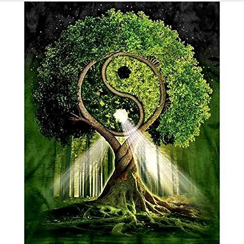 WENYAZ Puzzle per Adulti 1000 Pezzi Tai Chi Yin Yang Gossip Trees Home Decor per Soggiorno Art...