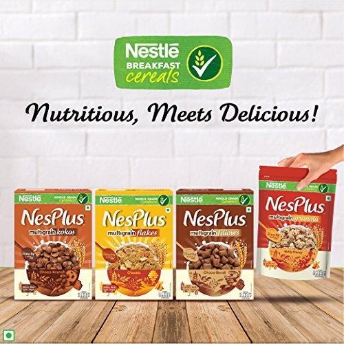 Nestlé NesPlus Breakfast Cereal, Multigrain Fillows - Choco-Burst, 250g Pouch 4