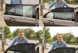 Universelle pour voiture pare-soleil pour fenêtre latérale arrière – Protège vos enfants du soleil, 2 Pièce Meilleure offre de prix