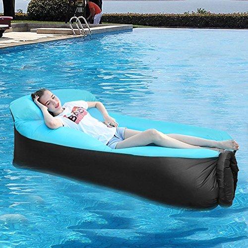 Tongfushop Aufblasbares Sofa Wasserdichtes Aufblasbares Liege Air Sofa, Aufblasbare Couch Tragbar Outdoor Sofa für Drinnen, Freizeit Reisen und Schwimmbad (01) - 3