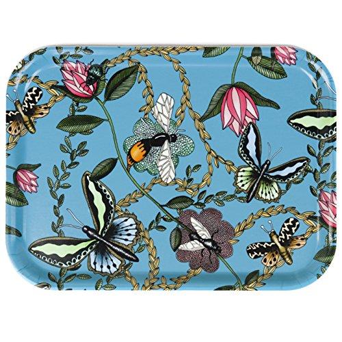 Nadja WEDIN diseño Bugs y Mariposas Turquesa-Bandeja (27x 20cm)