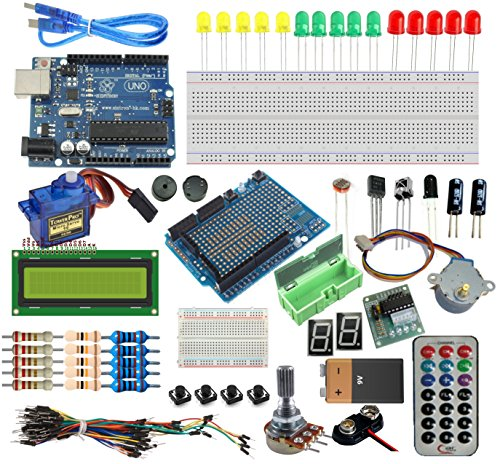 Overview:  This is a very good kits for starter to study MCU programing.  With This Arduino Uno R3 Starter Kit , you are able to learn and do many experiment such as lighting up the LED, then get the LED to be a output display, and interact w...