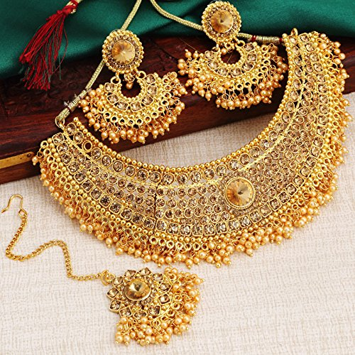 Sukkhi Jewellery Sets for Women (Golden) (N72392ADHT112017)