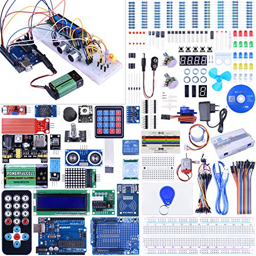 Starter Kit for Arduino-UNO Kuman Upgraded Version Full Ultimate Starter Kit for ArduinoIDE R3 MEGA2560 Nano Robot K27 (Version 2.0)