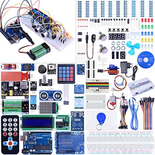 Kuman Ultimate Starter Kit for the Arduino IDE Uno-R3 Mega2560 Mega328 Nano Microcontroller Robot, K27 (Version 2.0)