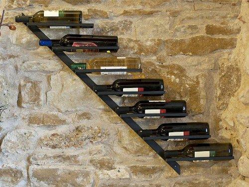 DanDiBo Scaffale per Vini Porta-Bottiglie Diagon 100 cm in Metallo Scaffale Porta-Bottiglie Bar...