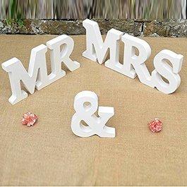 MR & MRS legno lettere di nozze Decorazione della tavola attuale